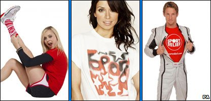Fearne Cotton, Christine Bleakley, Jenson Button
