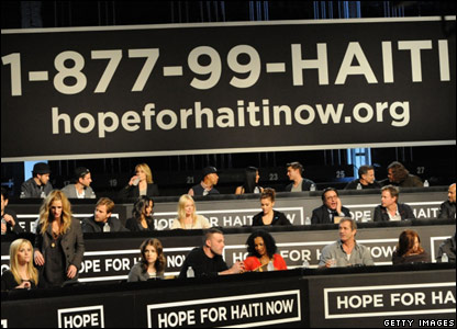 Celebrities ready to answer the phones for donations
