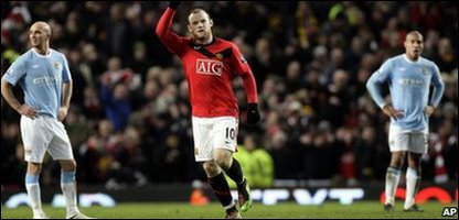 Wayne Rooney celebrates his winning goal