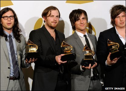 Kings of Leon picked up two awards including Record of the Year for Use Somebody.