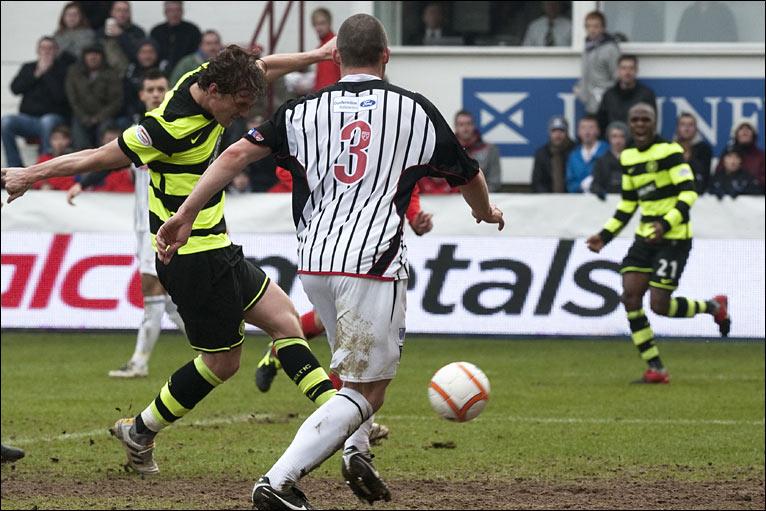 Celtic striker morten rasmussen centre pulls his side level just