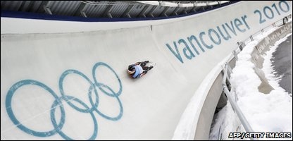 A Luge practice session in Vancouver ahead of the Winter Games