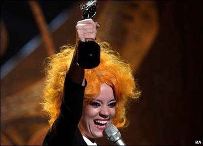 Lily Allen opened the 30th Brit Awards with her song 'Fear', and went on to win her first Brit for the best British female.