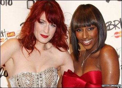 Florence and the Machine, and Alexandra Burke