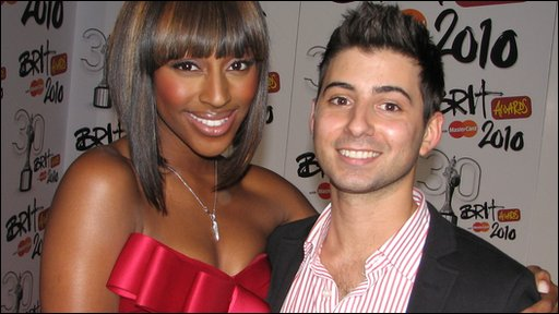 Alexandra Burke chatting to Ricky at the Brit Awards