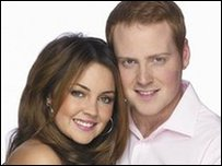 Lacey Turner and Charlie Clements as Stacey and Bradley Branning