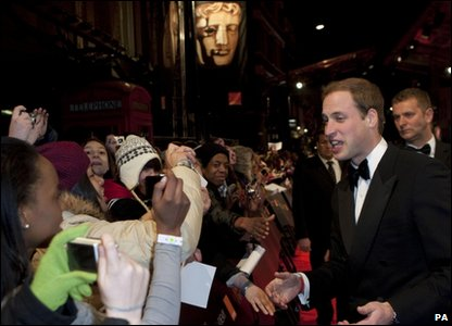 Prince William on the red carpet