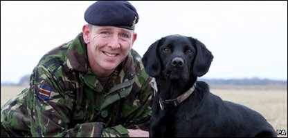 Treo and his handler Sergeant David Heyhoe