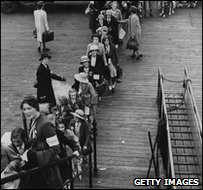 Children being put onto a ship bound for Australia in 1940. They were promised a 'better life'.