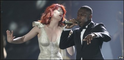 Florence Welch and Dizzee Rascal are at number two in the charts