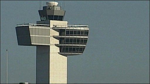 The control tower at JFK airport