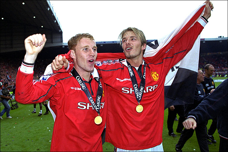 Bbc sport football david beckham 39 s old trafford highlights for Premier league table 99 2000
