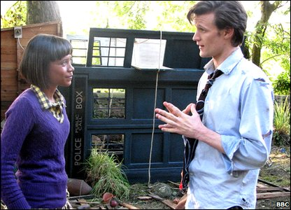Leah and Matt Smith - the new Doctor