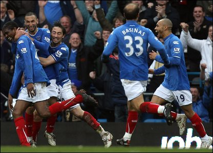 Despite their financial worries- Portsmouth beat Hull 3-2. The winning goal was scored by Nwankwo Kanu, who came on as a substitute.