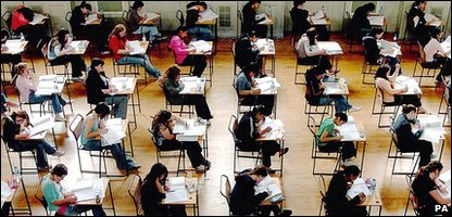 Children doing an exam