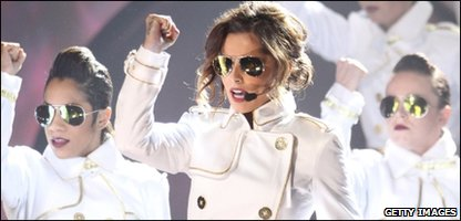 Cheryl Cole performing