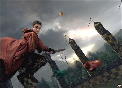 Harry Potter flying