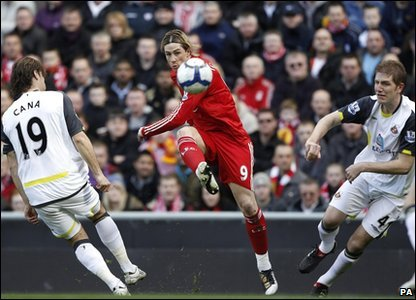 Fernando Torres scored two for Liverpool