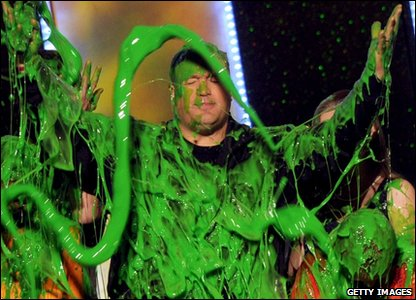 Host Kevin James gets slimed
