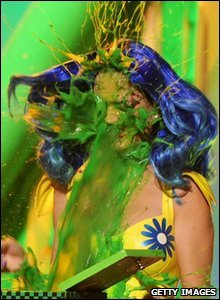 Katy Perry gets slimed