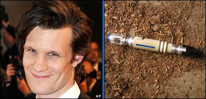 Matt Smith and a sonic screwdriver