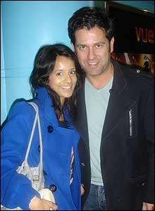 Sonali with actor Patrick Baladi