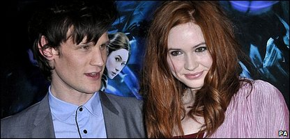 Matt Smith and Karen Gillian
