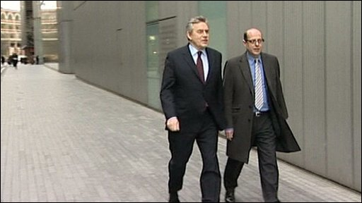 Gordon Brown and Nick Robinson