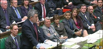 Gordon Brown in Parliament