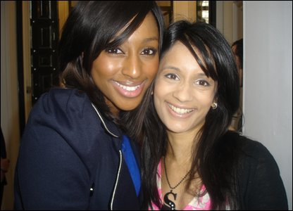 Sonali and Alexandra Burke