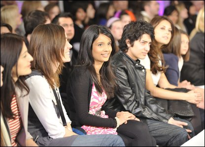 Sonali at the fashion show