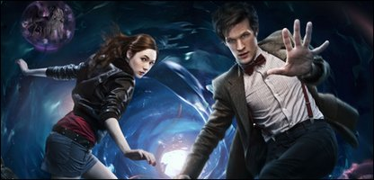 Matt Smith and Karen Gillan in Doctor Who