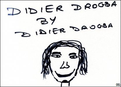 Didier Drogba self-portrait