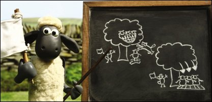 Shaun the Sheep. Courtesy of Aardman Animations
