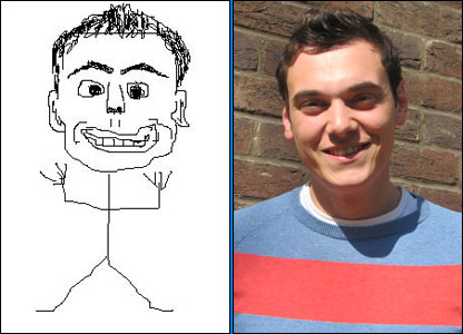Joe and his self-portrait