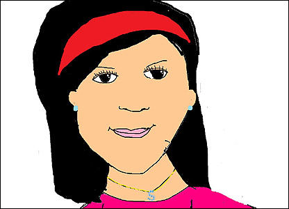 Sadia, 11 from Coventry sent in this self portrait - we think it looks pretty cool!