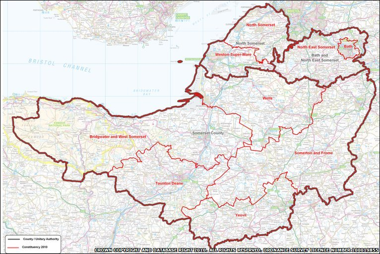 BBC In pictures Somerset election indepth map