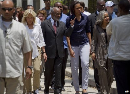 Michelle Obama in Haiti