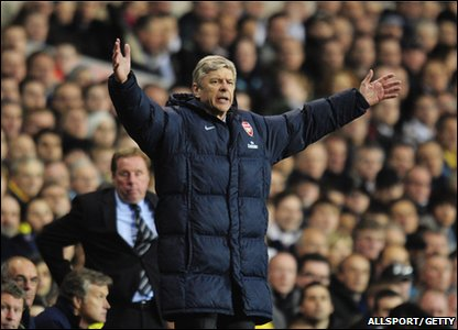 Arsene Wenger at White Hart Lane