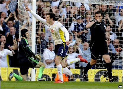 Gareth Bale got Tottenham's second goal