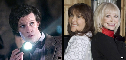 Matt Smith, Elisabeth Sladen and Katy Manning