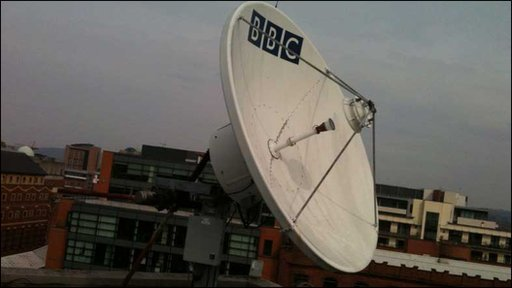BBC satellite dish on the roof