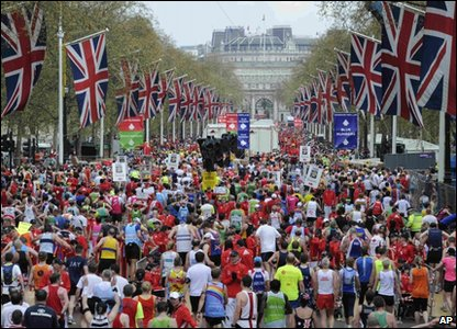 London Marathon runners