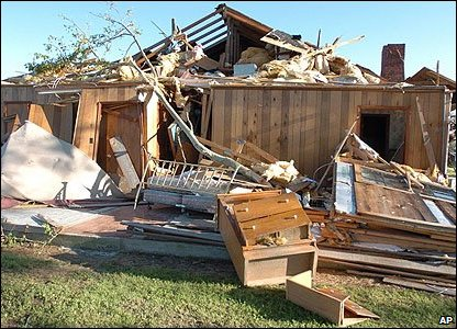 Damage from the tornado
