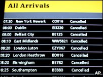 British airspace was closed for six days
