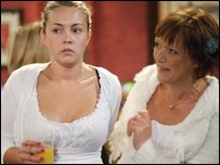 Stacey Branning played by Lacey Turner and Jean Slater, played by Gillian Wright