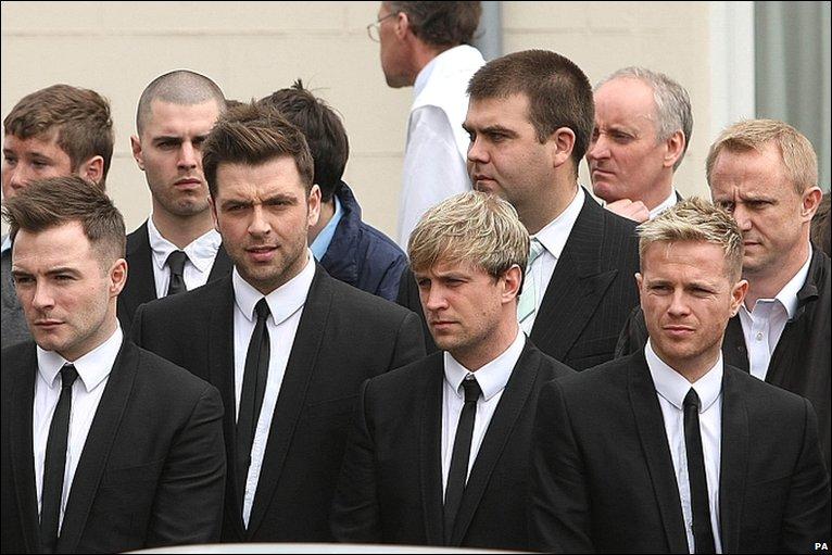Nicky Byrne Funeral