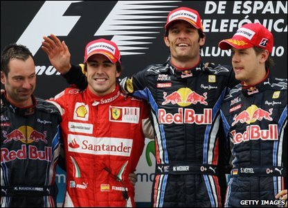 In the end, it was Mark Webber that won the race. Fernando Alonso came second - and despite his problems - Sebastian Vettel managed to finish third!