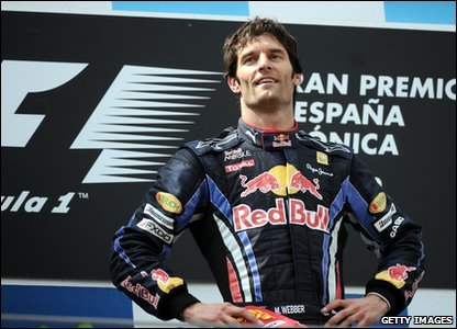 The win is Mark Webber's first Formula One win this season, and the third of his career.