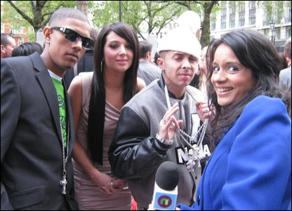 N-Dubz were there at the premiere as some of their music is featured in the film.